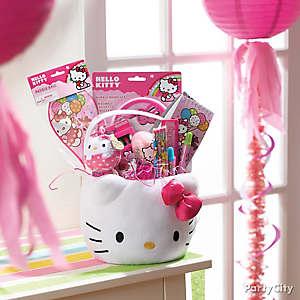 Hello Kitty Themed Easter Basket Idea