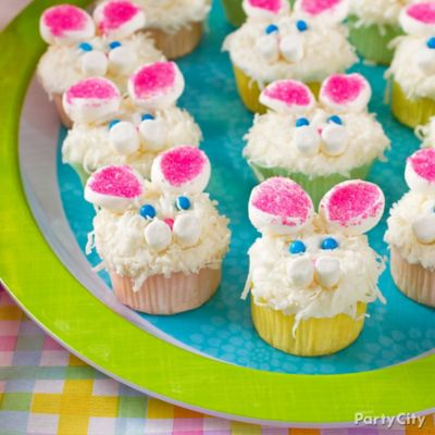 Easter Bunny Marshmallow Cupcake Idea