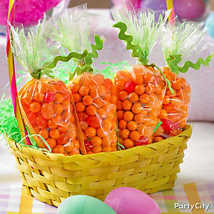 Easter Candy Carrot Favors Idea
