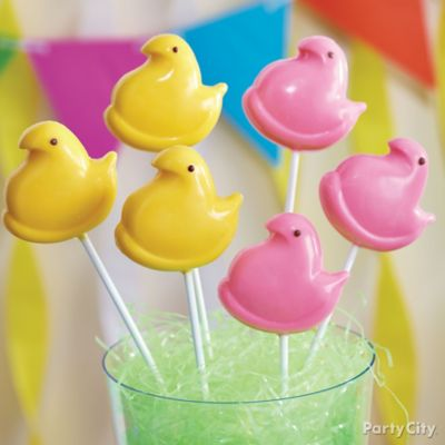 Peeps Chick Candy Pops How To