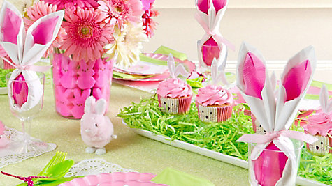 pink and green easter tablescape ideas  sc 1 st  Easy Ways To Hang Christmas Lights On Houses. Apartment Bathroom ... : spring table setting ideas - pezcame.com