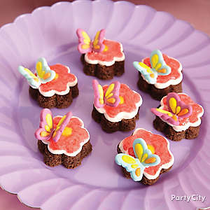 Butterfly Flower Brownies How To