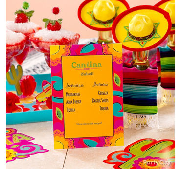 Cinco de Mayo Drink Menu Idea