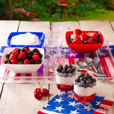 4th of July Fruit Parfaits Idea