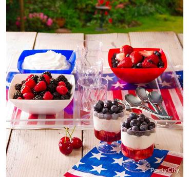 4th of July Fruit Parfaits Idea