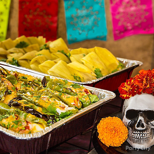 Day of the Dead Tamales & Stuffed Peppers Buffet Idea