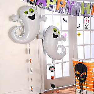 Friendly Ghost Balloons and DIY String Garlands Idea
