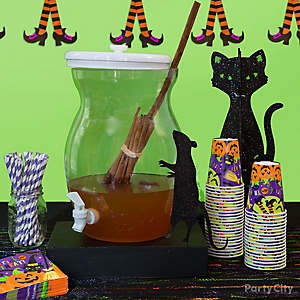Kid-Friendly Cinnamon Broomstick & Cider Potion Idea
