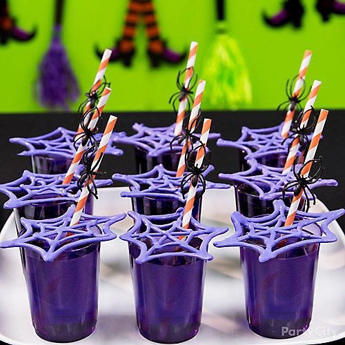 Kid-Friendly Candy Cobweb Drink Idea
