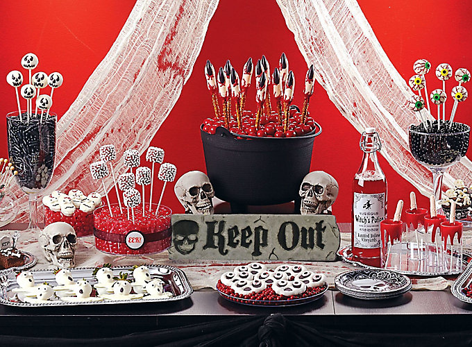 scary halloween sweets and treat ideas - Scary Halloween Party Decorations