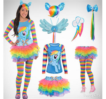 Girls' Rainbow Dash Costume Idea