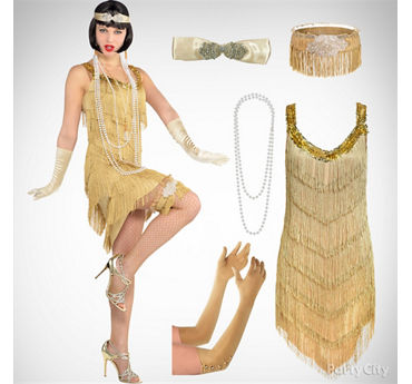 Women's Champagne Flapper Costume Idea