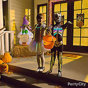 Trick or Treater Glow Stick Costume Idea