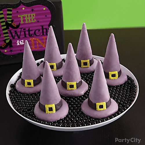 Witch's Crew Candy-Covered Cone Hats How To