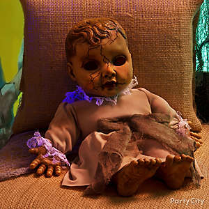 Halloween Creepy Cracked Doll Idea