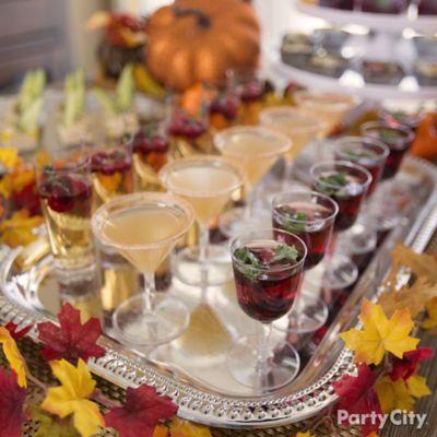 Fall Mini Cocktails Idea
