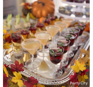 Fall Mini Cocktails Idea
