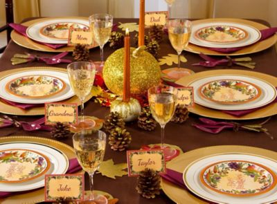 Thanksgiving Gilded Tablescape Ideas