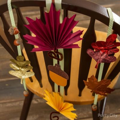 Acorn and Leaf Chair Deco DIY