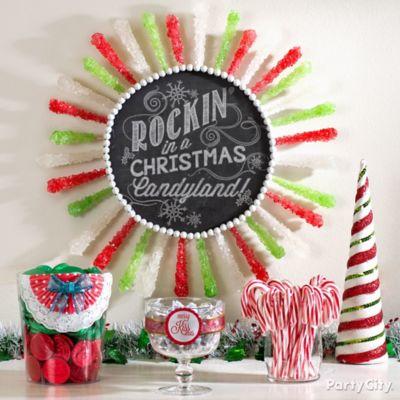 Rock Candy Wreath DIY