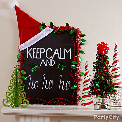 Christmas Chalkboard Sign DIY