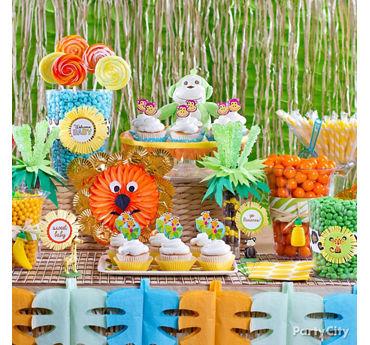 Jungle Theme Baby Shower Candy Buffet Idea