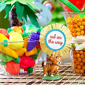 Jungle Theme Baby Shower Treats Table Idea