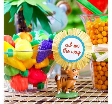 Jungle Theme Baby Shower Treats Table Idea