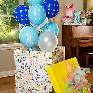 Gender Reveal Balloons Idea