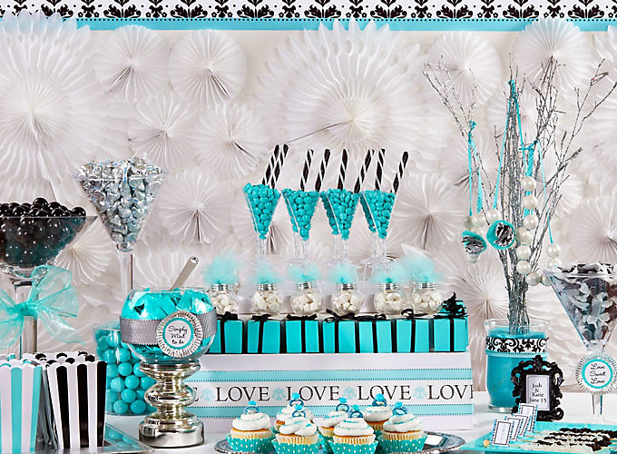 Robins Egg Blue Candy Buffet Ideas Party City