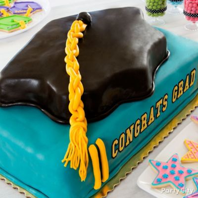 Grad Cap & Book Cake How To