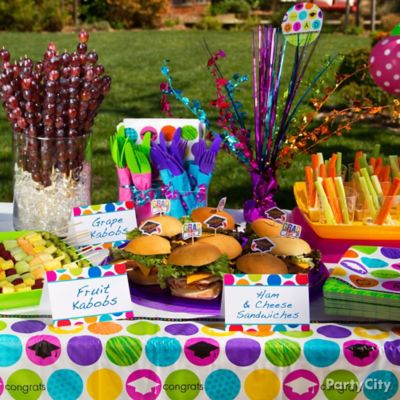 Colorful Mini Buffet Signs Idea