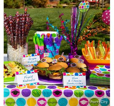 Colorful Mini Buffet Signs Idea