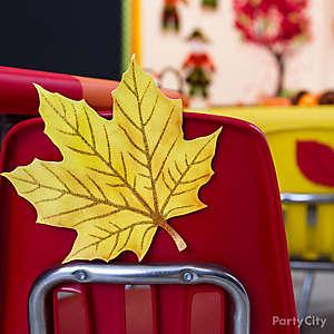 DIY Fall Class Party Chair Idea