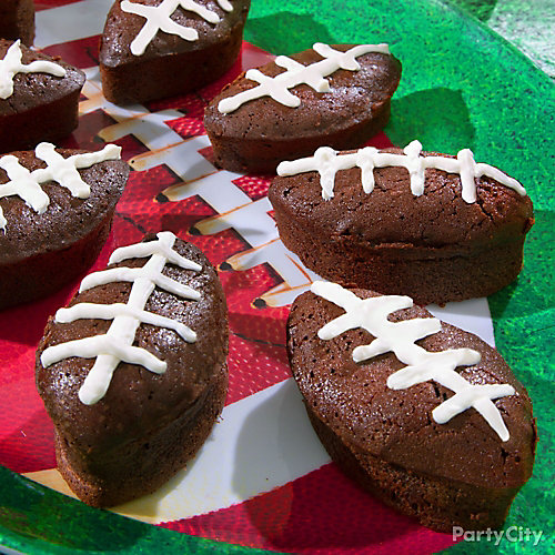 Football Brownies Idea