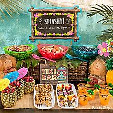 Tiki Buffet Table Idea