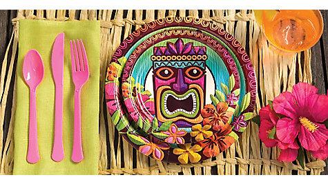 Luau Raffia Decorating Ideas