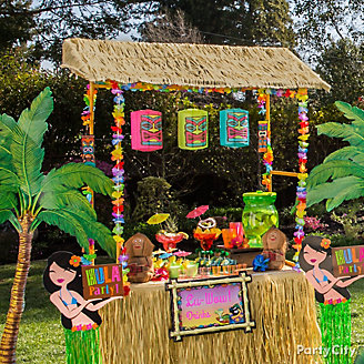 Get Inspired Raffia Tiki Bar Idea