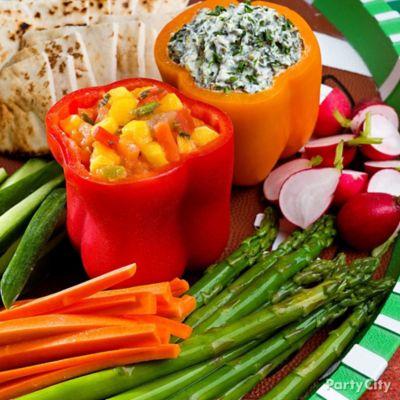 Bell Pepper Dip Bowls Idea