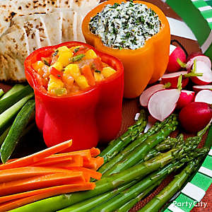 Bell Pepper Dip Bowls Idea