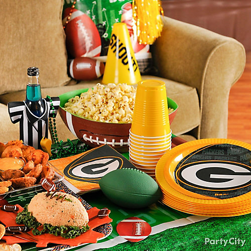 Football Team Snack Table Idea