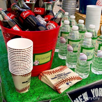 Baseball Drinks Station Idea