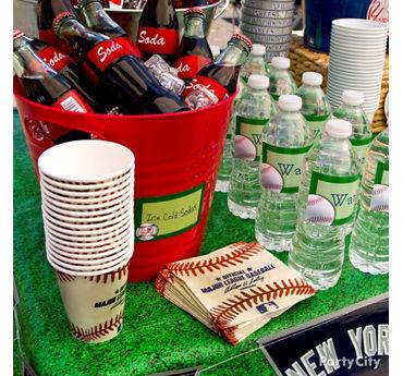 Baseball Drinks Station Idea
