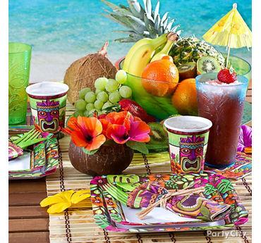 Tropical Tiki Place Settings Idea