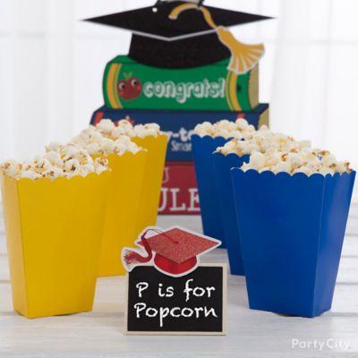 Kids Graduation Popcorn Treat Idea