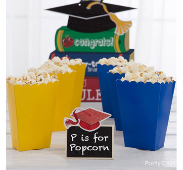 Kids Graduation Popcorn Treat Idea