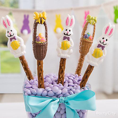 Easter Basket Pretzel Pops Idea