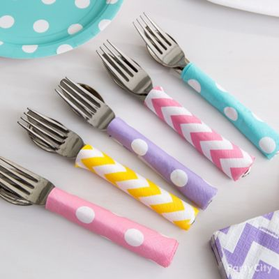 Napkin Wrapped Cutlery Idea