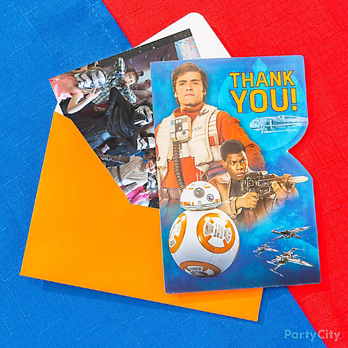 Star Wars Photo Thank You Note Idea