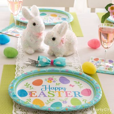 Playful Bunnies Table Decor Idea
